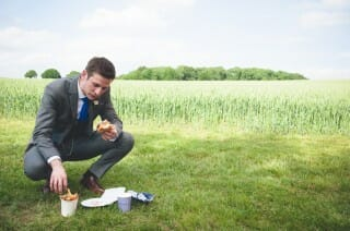 funny alternative festival wedding photography