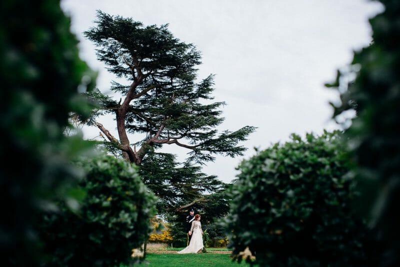 Chicheley Hall overgrown library wedding-22