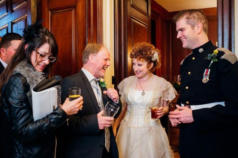 Chicheley Hall overgrown library wedding-27
