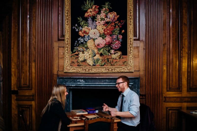 Chicheley Hall overgrown library wedding-38