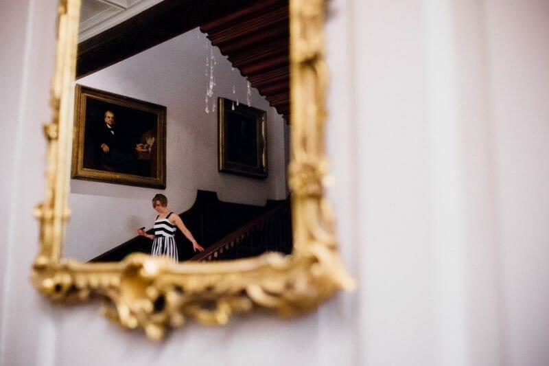 Chicheley Hall overgrown library wedding-41