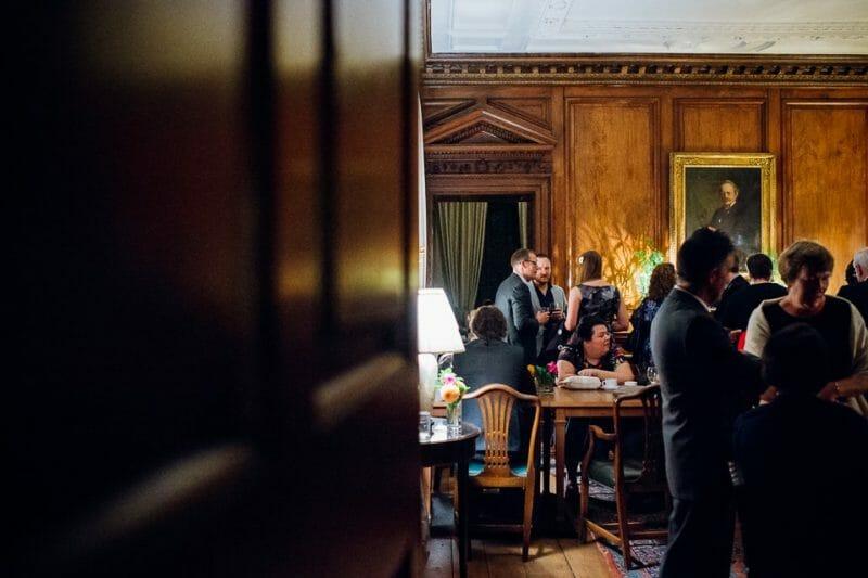 Chicheley Hall overgrown library wedding-44