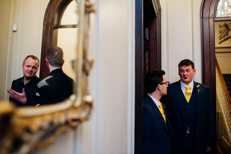 Chicheley Hall overgrown library wedding-45