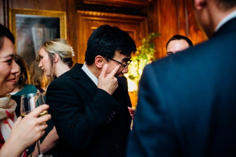 Chicheley Hall overgrown library wedding-48