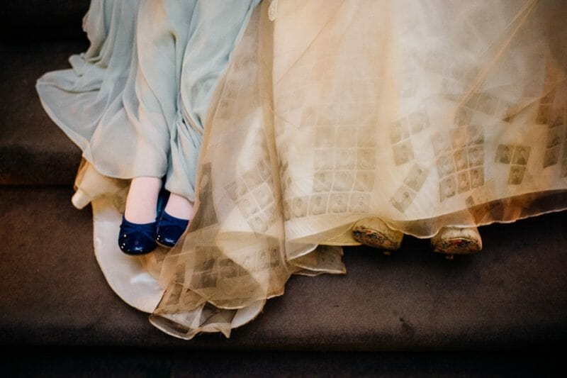 Chicheley Hall overgrown library wedding-49