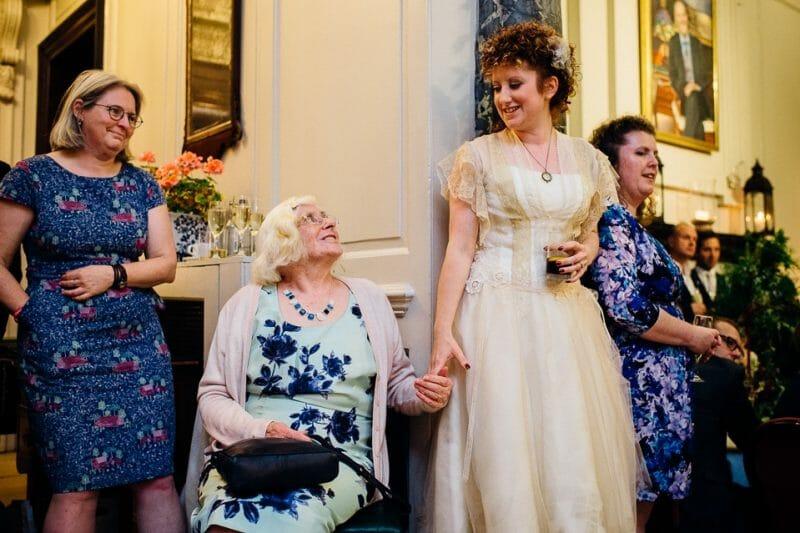 Chicheley Hall overgrown library wedding-50