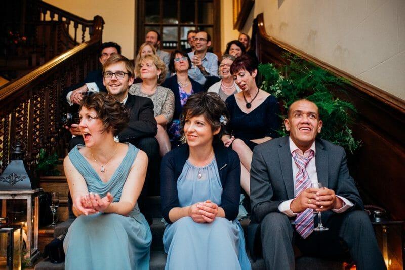 Chicheley Hall overgrown library wedding-51