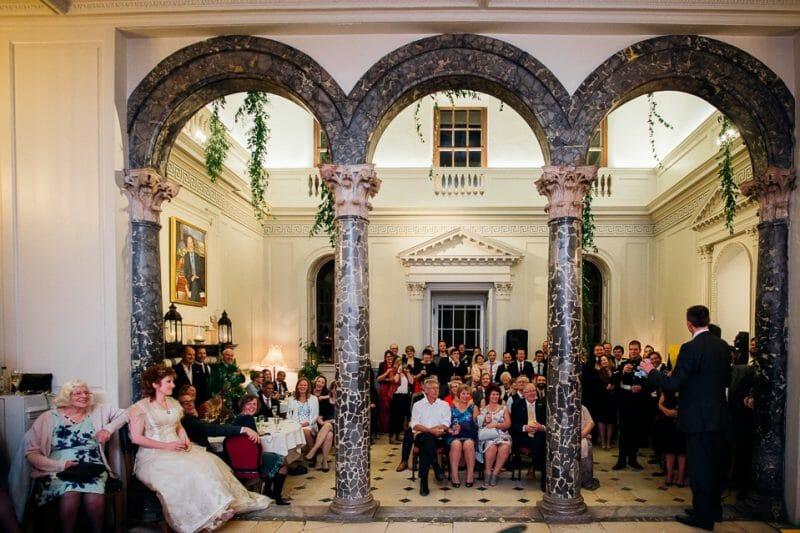 Chicheley Hall overgrown library wedding-54