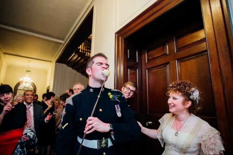 Chicheley Hall overgrown library wedding-57