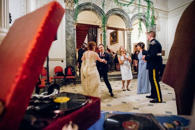 Chicheley Hall overgrown library wedding-63