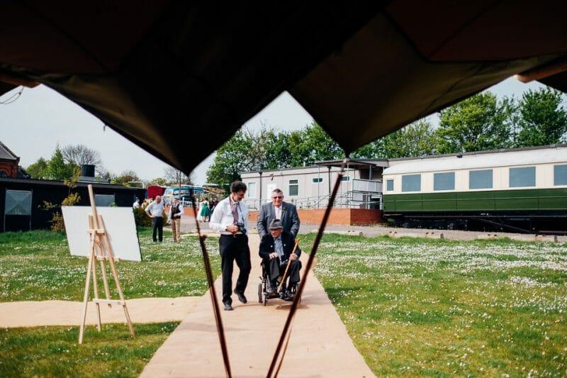 tipi train wedding east anglian museum-22