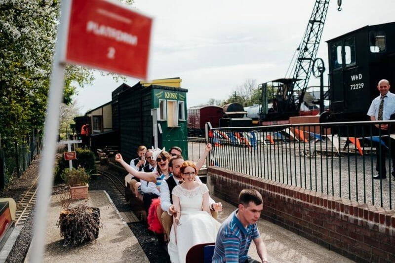 tipi train wedding east anglian museum-25