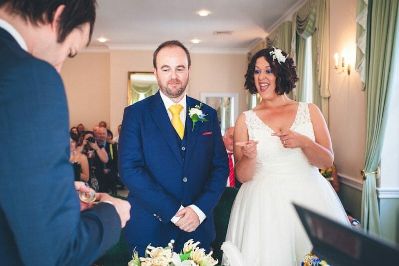 fun relaxed wedding ceremony