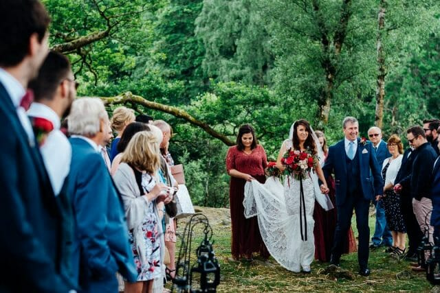 outdoor bridal entrance