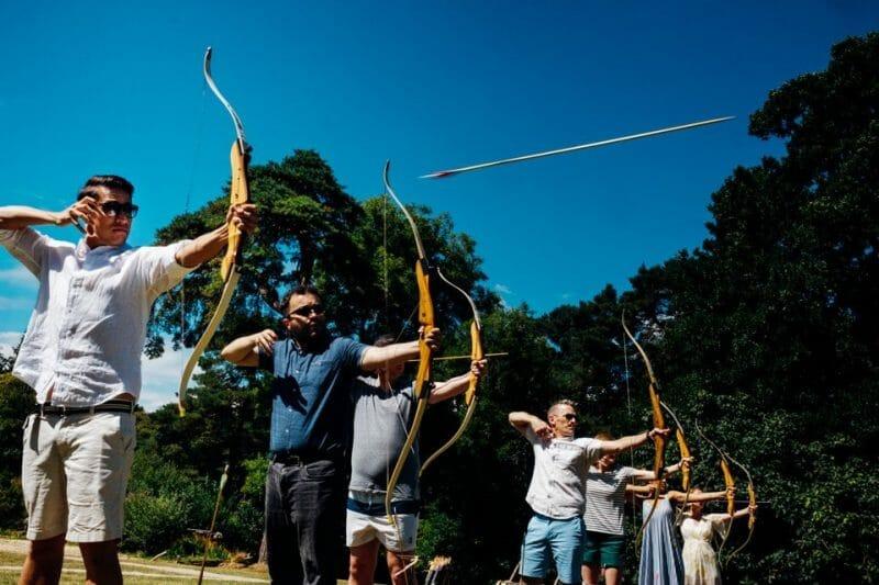 archery wedding