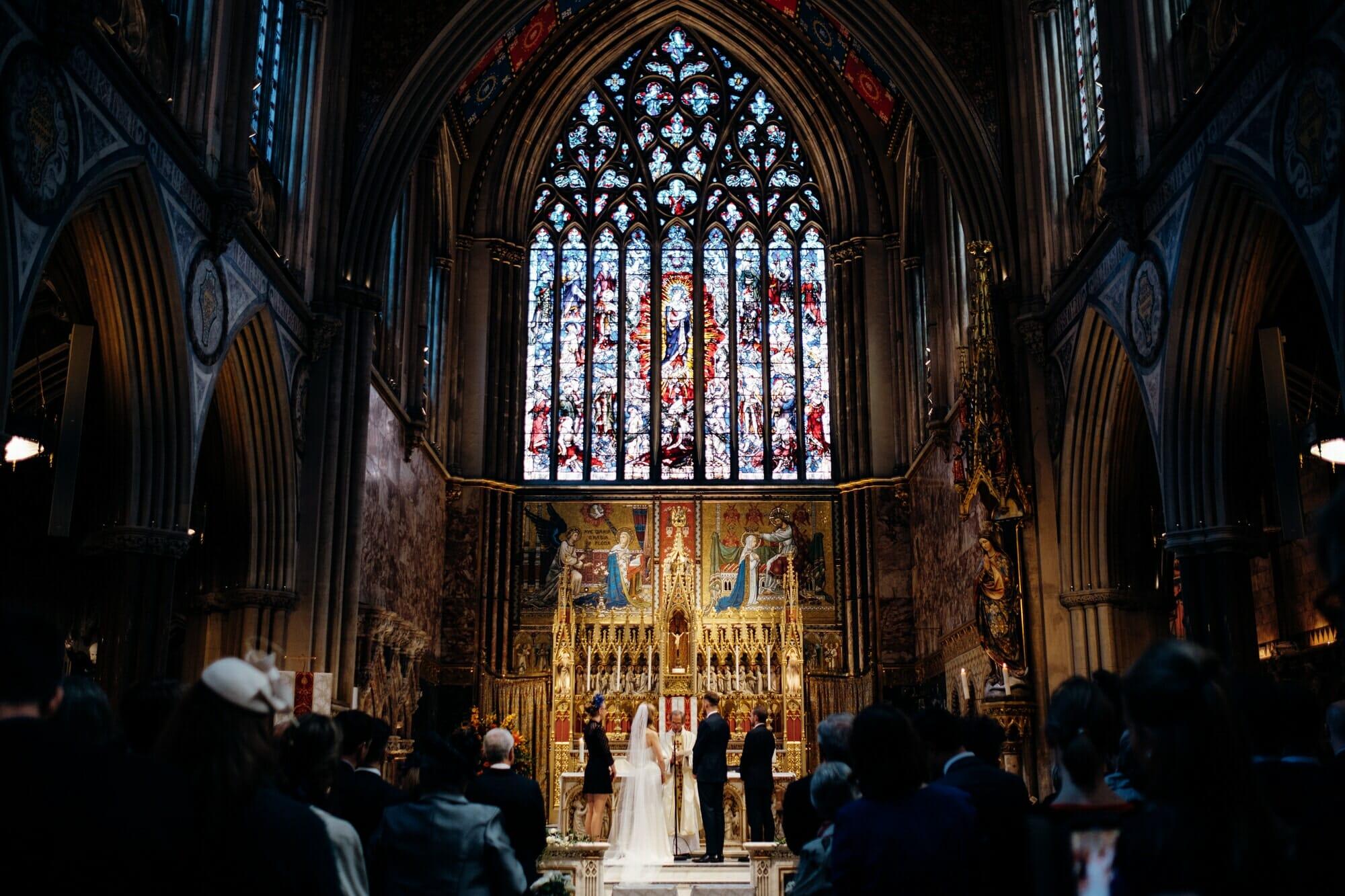 farm church London wedding
