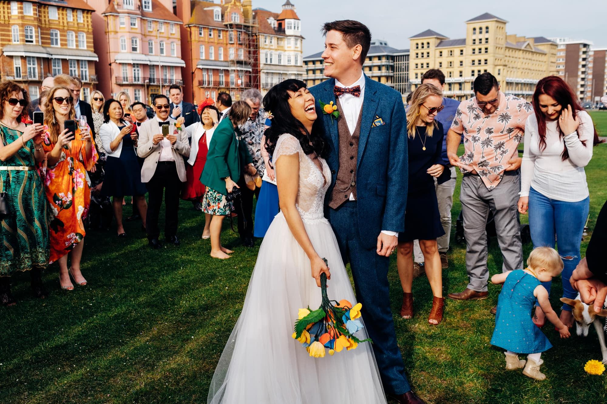 outdoor Brighton wedding
